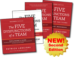 Five Dysfunctions Of A Team Workshop Deluxe Facilitators Guide Package Second Edition